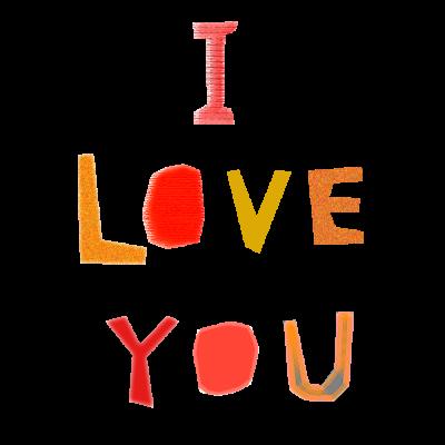 collage_iloveyou メッセージ 手紙 フリー 素材