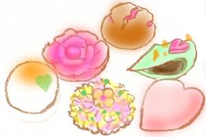 valentine 和菓子 バレンタイン
