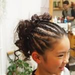 小学校の卒業式にぴったりの髪型カタログ2015 コーンロウ
